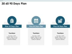 30 60 90 Days Plan Ppt PowerPoint Presentation Pictures Brochure