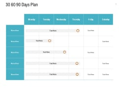 30 60 90 Days Plan Ppt PowerPoint Presentation Pictures Shapes