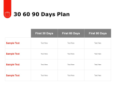 30 60 90 Days Plan Ppt PowerPoint Presentation Slides Files