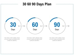 30 60 90 Days Plan Ppt PowerPoint Presentation Slides Influencers