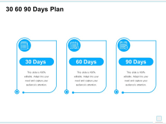 30 60 90 Days Plan Ppt PowerPoint Presentation Summary Deck