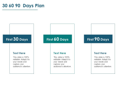 30 60 90 Days Plan Ppt PowerPoint Presentation Summary Visuals