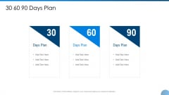 30 60 90 Days Plan Ppt Visual Aids Model PDF