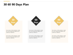 30 60 90 Days Plan Process Ppt PowerPoint Presentation Infographic Template Graphics