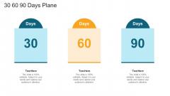 30 60 90 Days Plane Ppt Layouts Deck PDF