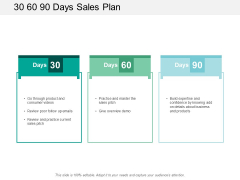 30 60 90 Days Sales Plan Ppt PowerPoint Presentation Inspiration Themes