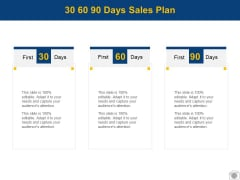 30 60 90 Days Sales Plan Process Planning Ppt PowerPoint Presentation Infographic Template Aids