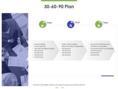 30 60 90 Plan Ppt PowerPoint Presentation Model Graphics Example PDF