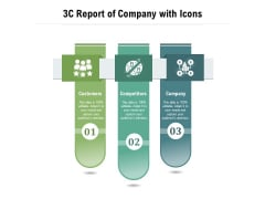 3C Report Of Company With Icons Ppt PowerPoint Presentation Icon Shapes PDF