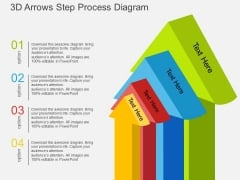 3D Arrows Step Process Diagram Powerpoint Template