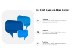 3D Chat Boxes In Blue Colour Ppt PowerPoint Presentation Gallery Objects PDF