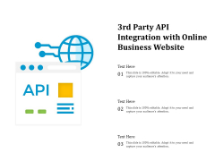 3Rd Party API Integration With Online Business Website Ppt PowerPoint Presentation File Visual Aids PDF