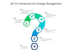 3W 1H Framework For Change Management Ppt PowerPoint Presentation Background Image PDF