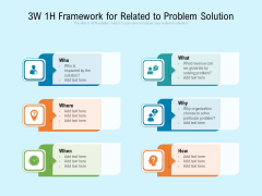 3W 1H Framework For Related To Problem Solution Ppt PowerPoint Presentation Gallery Styles PDF