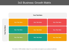 3X3 Business Growth Matrix Ppt PowerPoint Presentation Icon Graphics Template