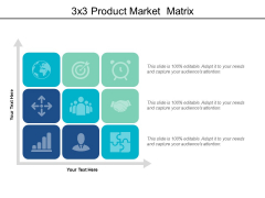 3X3 Product Market Matrix Ppt PowerPoint Presentation Ideas Influencers