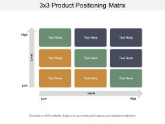3X3 Product Positioning Matrix Ppt PowerPoint Presentation File Design Inspiration