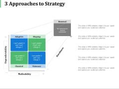 3 Approaches To Strategy Ppt PowerPoint Presentation Inspiration Shapes