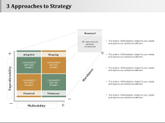 3 Approaches To Strategy Strategy Approaches Ppt PowerPoint Presentation Infographics Examples