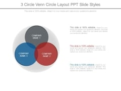 3 Circle Venn Circle Layout Ppt Slide Styles