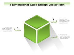3 Dimensional Cube Design Vector Icon Ppt PowerPoint Presentation Gallery Graphic Images PDF