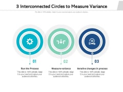 3 Interconnected Circles To Measure Variance Ppt PowerPoint Presentation Clipart PDF