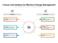 3 Issues And Solutions For Effective Change Management Ppt PowerPoint Presentation File Layouts PDF