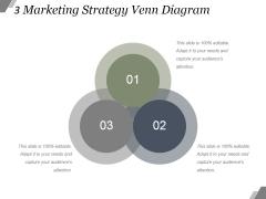 3 Marketing Strategy Venn Diagram Ppt PowerPoint Presentation Sample
