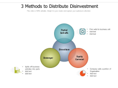 3 Methods To Distribute Disinvestment Ppt PowerPoint Presentation Icon Tips PDF