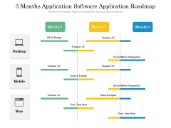 3 Months Application Software Application Roadmap Pictures