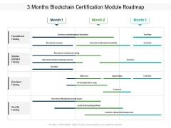 3 Months Blockchain Certification Module Roadmap Sample