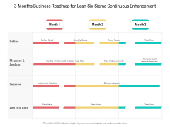 3 Months Business Roadmap For Lean Six Sigma Continuous Enhancement Ideas
