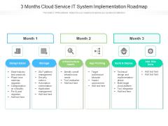 3 Months Cloud Service IT System Implementation Roadmap Pictures