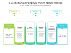 3 Months Computer Employee Training Module Roadmap Guidelines