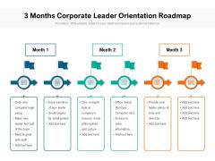 3 Months Corporate Leader Orientation Roadmap Portrait