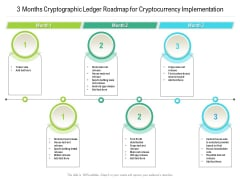 3 Months Cryptographic Ledger Roadmap For Cryptocurrency Implementation Elements