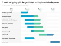 3 Months Cryptographic Ledger Rollout And Implementation Roadmap Sample