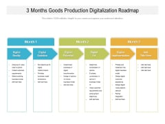 3 Months Goods Production Digitalization Roadmap Mockup