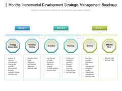 3 Months Incremental Development Strategic Management Roadmap Inspiration