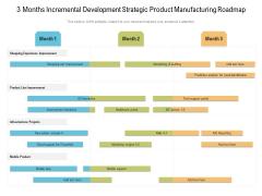 3 Months Incremental Development Strategic Product Manufacturing Roadmap Inspiration