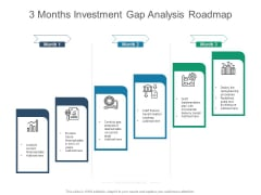 3 Months Investment Gap Analysis Roadmap Pictures