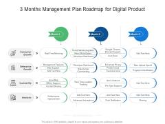 3 Months Management Plan Roadmap For Digital Product Topics