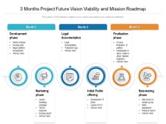 3 Months Project Future Vision Viability And Mission Roadmap Formats