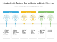 3 Months Quality Business Data Verification And Control Roadmap Mockup
