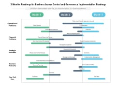 3 Months Roadmap For Business Issues Control And Governance Implementation Roadmap Diagrams