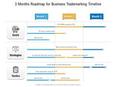 3 Months Roadmap For Business Trademarking Timeline Information