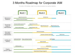 3 Months Roadmap For Corporate IAM Template