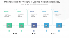 3 Months Roadmap For Philosophy Of Existence In Blockchain Technology Diagrams