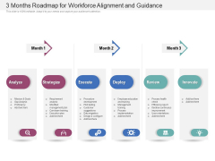 3 Months Roadmap For Workforce Alignment And Guidance Portrait