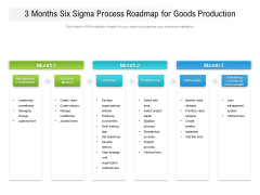 3 Months Six Sigma Process Roadmap For Goods Production Rules